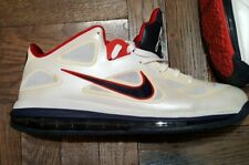 Nike Air Max LEBRON IX 9 USA OLYMPIC WHITE OBSIDIAN BLUE RED 510811-101 Size 13