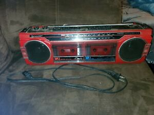Sharp Tape AM FM Cassette Recorder Stereo Radio Boombox Blaster WQ-276