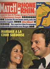 paris match n°1413 mariage a la cour suedoise djibouti
