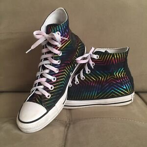 Converse Chuck Taylor All Star Women's Sz 9 Multicolor High Tops Canvas Shoes