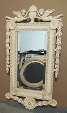 "Large Ornate Wood/Resin ""22x42"" Rectangle Beveled Framed Wall Mirror"