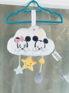 Disney Store Disney Baby Musical Mobile Cot Cloud Minnie And Mickey Mouse