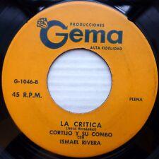 CORTIJO su combo ISMAEL RIVERA strong vg Latin 45 LA CRITICA / BELLA MUJER C2644