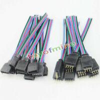 5x 4pines macho+hembra conector del alambre del cable de tiras flexibles LED RGB
