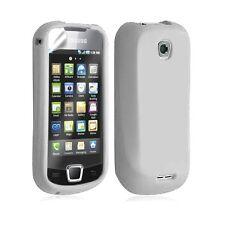 Housse étui coque silicone pour Samsung Galaxy Teos i5800 couleur blanc+ film
