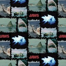 Universal Jaws Shark Torn Patches 100% cotton fabric by the yard