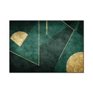 European Style Dark Green Golden Floor Mat Big Carpet  Bedside Rug Door Mat