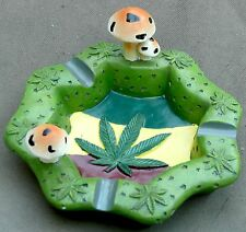 Cannabis Marijuana Leaf and Mushroom Novelty Ashtray