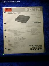Sony Service Manual D T2 / T20 CD Player (#2618)