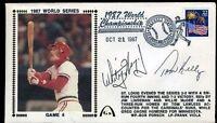 Whitey Herzog Tom Kelly Signed Jsa Certed 1987 World Series Fdc Autograph