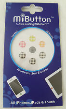 NEW MiButton Home Button Checkers Stickers for Apple iPhone iPod Touch iPad