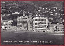 SAVONA PIETRA LIGURE 38 SPIAGGIA - AEREA - Cartolina FOTOGRAFICA viaggiata 1959