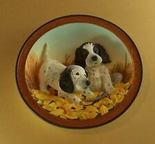 Field Pup Follies 3D Plate Fowl Play #3 Third Issue English Setter + Coa