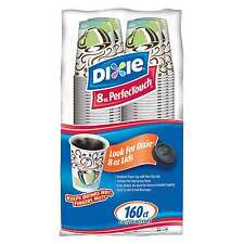 Dixie 8 oz PerfecTouch Insulated Paper Hot Cold Coffee Haze Cup - 160 Cups