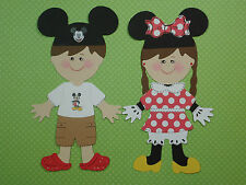 Mickey & Minnie Kids Paper Dolls Set Cricut Die Cut/Paper Piecing/Embellishment