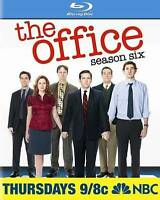 The Office: Season Six (Blu-ray Disc, 2010, 4-Disc Set) Steve Carell NEW
