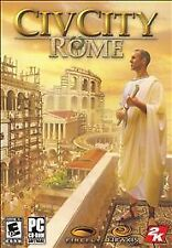 2006 CivCity: Rome (PC Game) City Builder Win XP/Vista Original box and manual