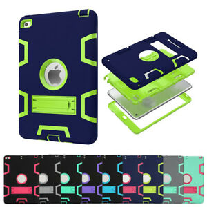 For Apple iPad 2 3 4 5 6 mini Air Kids Shockproof Case Heavy Duty Protect Cover
