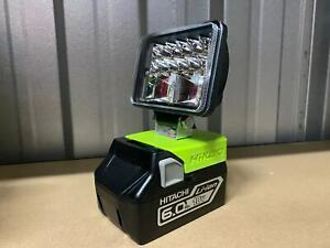 Custom made 18v LED light wide beam 18 LEDs 1000LM for Hitachi / Hikoki battery