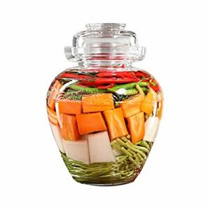 Glass Jar with Lid, Fermenting Kit Pickle Jar Crock Wide Mouth with Clear