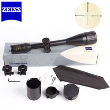 Zeiss Rifle Scope Conquest 6-24x50AO R&G Illuminated Reticle W/ Mounts+Cover