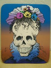 Day of the Dead La Catrina Fancy Skeleton Lady with Flowers Mousepad