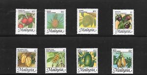 [H98A] Malaysia 1986 Fruits Definitive Series Set of 8pcs MNH FINE