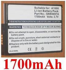 Batterie 1700mAh Für MOTOROLA A1000, A1010, M1000, art SNN5697A