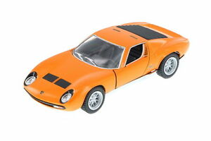 New Kinsmart 1971 Lamborghini Miura P400 SV Diecast Model Toy Car 1:34 Orange
