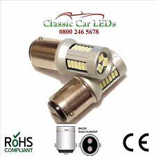 2x 6 Volt Rosso ba15d A DUE FILAMENTI Stop Coda Lampadine LED Indicatore Laterale p21/5w 168