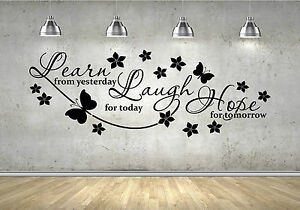 learn from yesterday wall sticker vinyl design home decal design