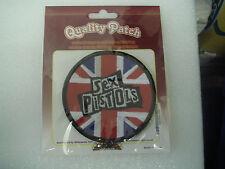 Sex Pistols Union Flag Background Circular Patch