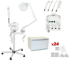 3 in 1 Facial Steamer Magnifying Lamp Hot Towel Warmer Machine Salon Equipment