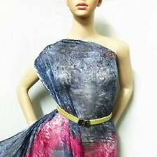 100% pure silk chiffon fabric material retro gray print by the yard jhc 20123