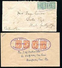 JAMAICA RAILWAY TPO TEMPORARY RUBBER DATESTAMPS NEW WORKS 1914/1956