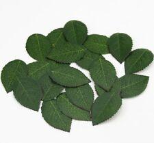 Rose Leaves Artificial Green Garland Decoration Plastic Flower Fake Leaf 100 Pcs