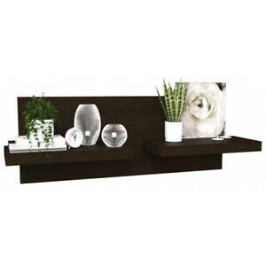 2 Shelf Floating Walnut Shelves - Extra Deep - Modern and Stylish - Wenge
