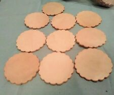Bulk Lot 10 Leather Cut Outs Blank Circles Thick Round Veg Tan Crafts Keychain