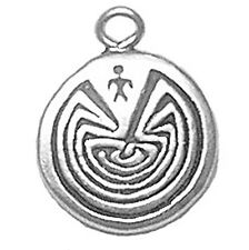 Sterling Silver Man in the Maze Life's Journey Jewellery Charm Jewelry 3 Gram