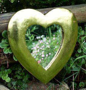 Spiegel Herz gold Herzspiegel Wandspiegel Dekoherz Herzspiegel Herzchen Herzen