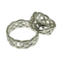 QUALITY UK 925 Sterling Silver Solid Celtic Ring 7mm Width Sizes J - Z Available