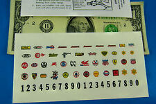 HO SLOT CAR Aurora AFX TJET Vibrator Stickers,STP GAS #'s STICKER REPRODUCTION