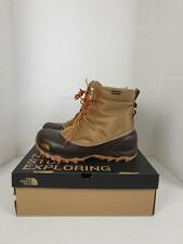 NIB The North Face Men's Tsumoru Brown Waterproof Boots, Size 8.5