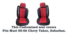Black/Red Mesh Customized seat covers Fit's 00-06 Chevy Tahoe, Chevy Suburban.