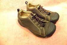 Keen Brown Leather lace Up Oxford Sneaker Hiking Walking Shoes Womens 6M EU 38.5