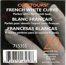 SALLY BEAUTY SUPPLY CONTOURS 20 FRENCH WHITE CURVE ARTIFICIAL NAIL TIPS 715355