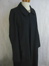 Authentic Burberry Size 14 Navy Long Mac Overcoat