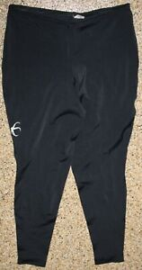 Vintage 1990's EAGLE CLAW Men's  XL Black Long Stretch Cycling Pants Tights