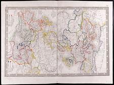 1841 - 2 Schede antiche Europa sotto Constantin & sotto Carlo magno / Monin