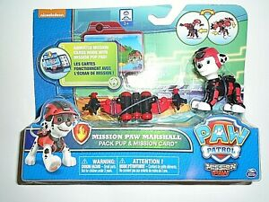 """Nickelodeon Paw Patrol Mission Paw Marshall Pack Pup & Mission Card -  """"NEW"""""""